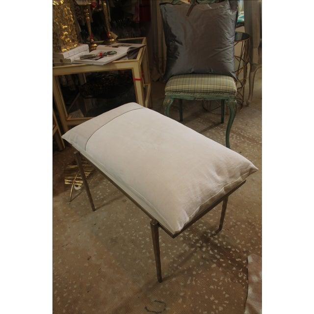 Handmade Steel Pillow Bench - Image 3 of 7