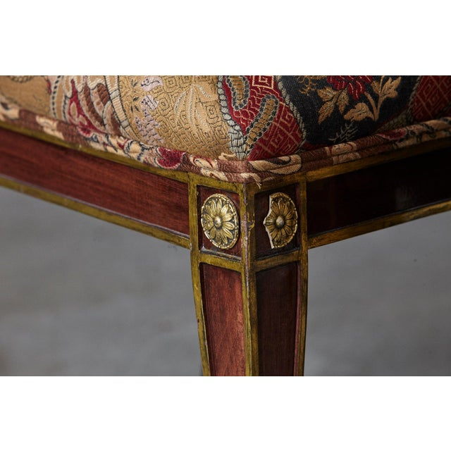 Set of 6 Regency Dining Chairs With Gild Elements For Sale In New York - Image 6 of 13
