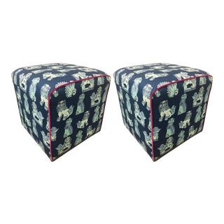Taylor Burke Home James Ottomans - a Pair