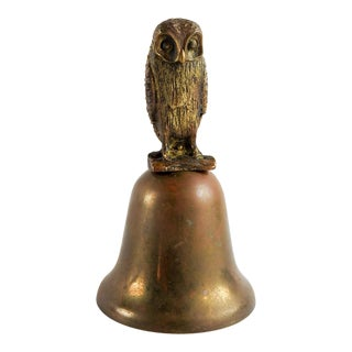 Brass Owl Bell For Sale