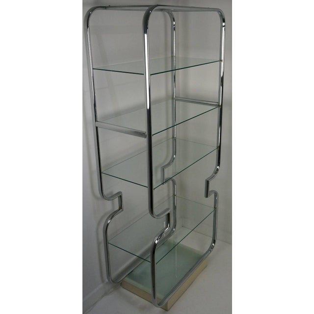 John Mascheroni Mid-Century Modern Polished Chrome and Glass Etageres - a Pair For Sale - Image 4 of 11