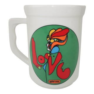 Vintage Peter Max 'Love' Coffee Mug