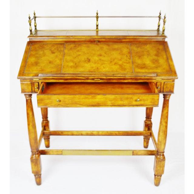 Mid-Century Modern Vintage Thomasville Ernest Hemingway Desk & Chair Set For Sale - Image 3 of 10