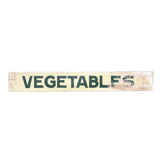 Vintage Double-Sided, Hand-Painted Vegetable Produce Stand Sign For Sale