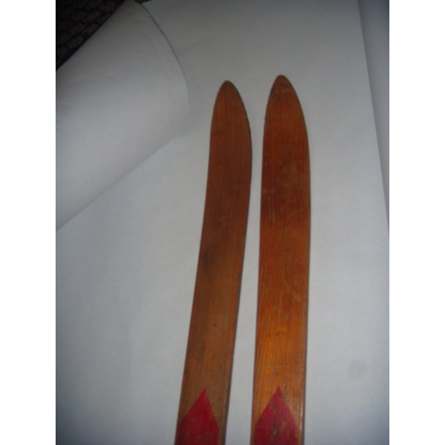Vintage Wood Child's Skis - A Pair - Image 7 of 7