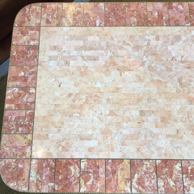 Hollywood Regency Pink Tessellated Stone Coffee Table by Casa Bique For Sale - Image 3 of 8