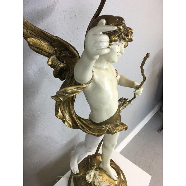 Auguste Moreau Art Nouveau Table Lamp - Image 5 of 8