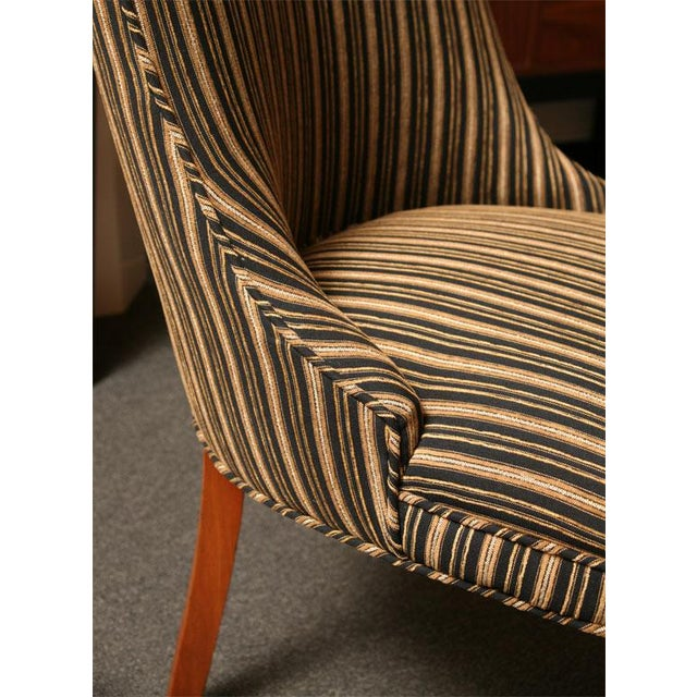 Sleek Tailored 40's Slipper Side Chairs - Image 9 of 10