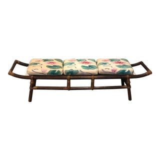 1970s John Wisner for Ficks Reed Pagoda Bench For Sale