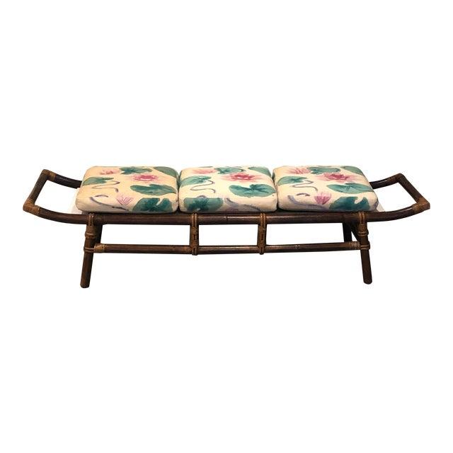 1970s John Wisner for Ficks Reed Pagoda Bench For Sale