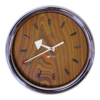 1970s Mid-Century Modern Peter Protzman for Howard Miller Style Wall Clock