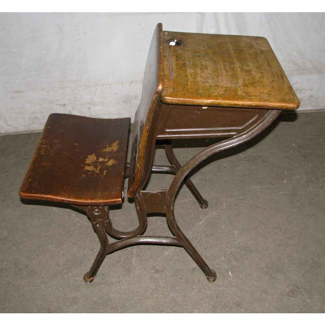 Old School House Student Desk For Sale - Image 4 of 9