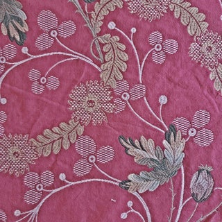 Scalamandre Granada Lampas Designer Fabric by the Yard For Sale
