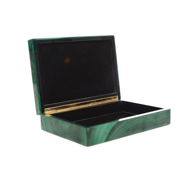 Malachite Box with Egyptian Emblem - Image 9 of 9