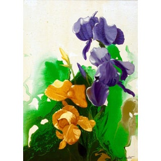 "Conrad Moulton ""Irises"" Giclee Print of the Painting For Sale"