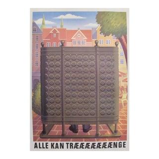 Original 1980's Danish Design Poster, Carlsberg Copenhagen