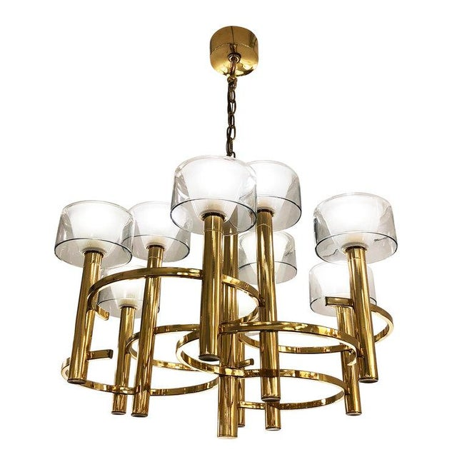 Gaetano Sciolari Brass Ceiling Light For Sale - Image 9 of 9