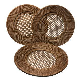 1970s Wicker Hot Plates - Set of 3 For Sale