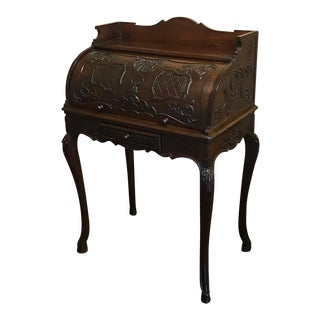 19th Century French Regence Rolltop Secretary