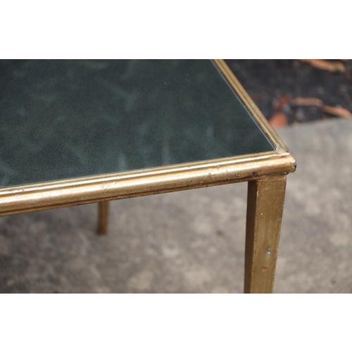 Mid-Century Modern Maison Janson Style Brass Coffee Table With Smoked Glass For Sale - Image 3 of 9