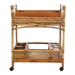 Bamboo & Rattan Bar Cart