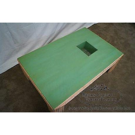 1940s Vintage Art Deco Rattan Bamboo Coffee Table For Sale - Image 5 of 13
