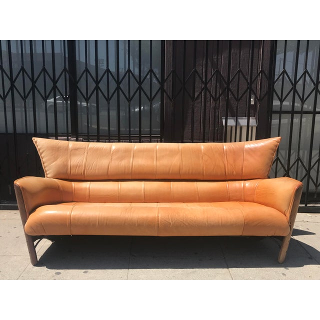 A rare gem, this authentic leather Moorea sofa by Pacific Green is now available. Pacific Green's design was influenced by...