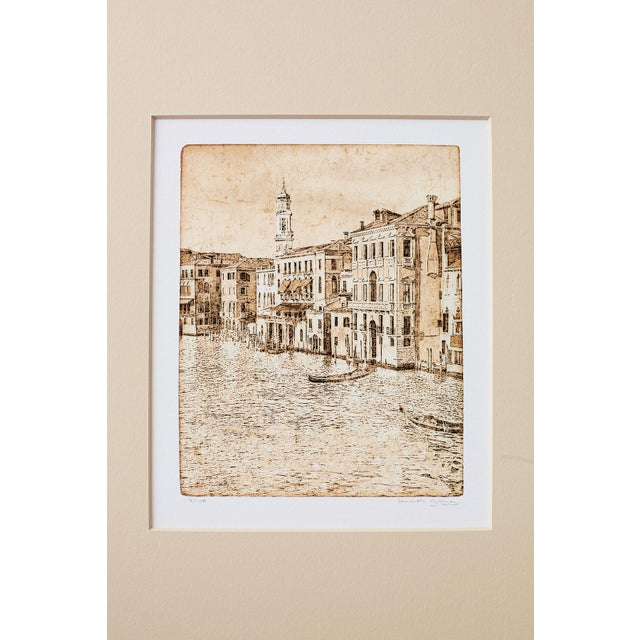 Paper Set of Twelve Architectural Landscape Etchings by Kenneth Gregg For Sale - Image 7 of 13