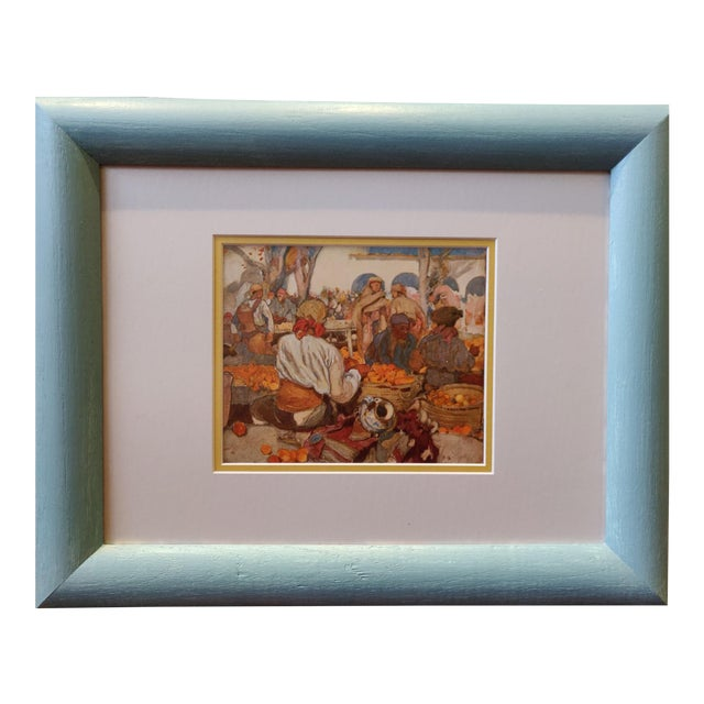 Early 20th Century Antique English Watercolor Print For Sale