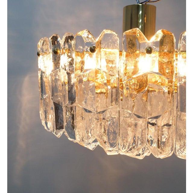 j.t. Kalmar Palazzo Chandelier Gold Brass Glass Lamp, Austria 1960 For Sale - Image 11 of 12