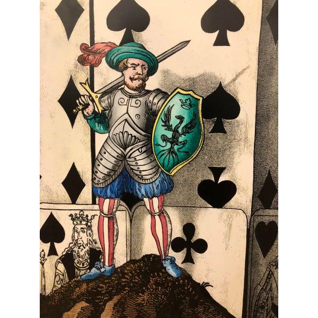 """Citta' di Carte"" (City of Cards) folding screen by Piero Fornasetti. Litographic transfer print on wood. Originally..."