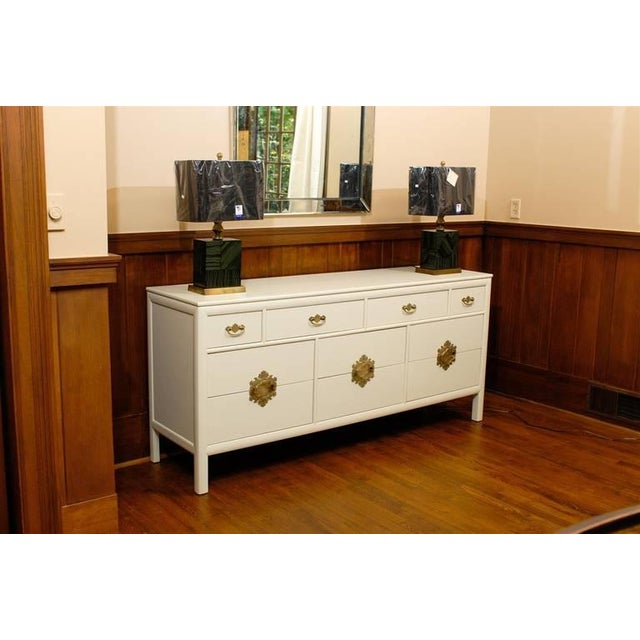 Gold Gorgeous Ten-Drawer Chest by Century Furniture Company, Pair Available For Sale - Image 8 of 11