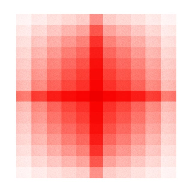 Color Space Series 52: Pink & Red (Centered) Fine Art Print For Sale