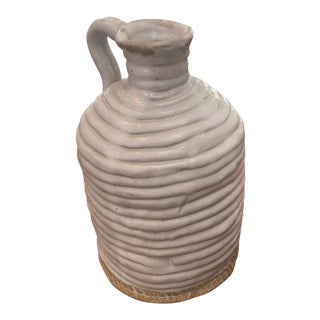 Vintage Studio Pottery Olive Oil Bottle, Signed 1993 For Sale
