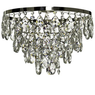 Bathroom Chandelier in Poliched Chrome and Crystals