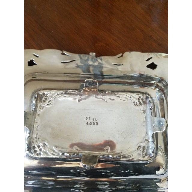 Antique Silverplated Biscuit Basket For Sale - Image 5 of 6