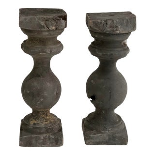 French Baluster Pillar Candleholders - a Pair For Sale
