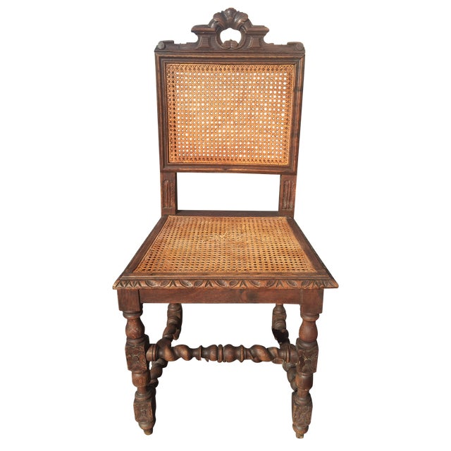 Jacobean Era Carved Cane Dining Chairs - Set of 5 - Image 1 of 11 - Jacobean Era Carved Cane Dining Chairs - Set Of 5 Chairish