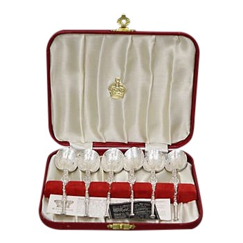 Queen Elizabeth Coronation Spoons - Set Six For Sale