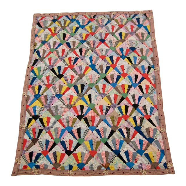19th Century Antique American Quilt For Sale