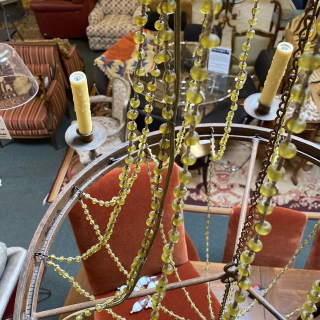 Brown Mid 20th Century 1940's French Six Light Chandelier For Sale - Image 8 of 13