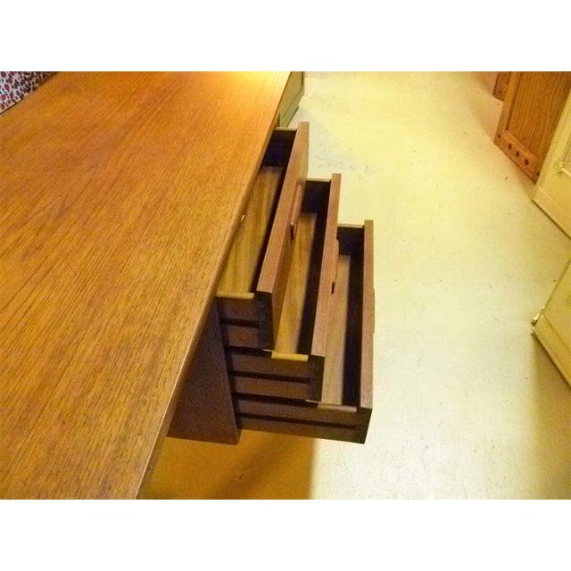 Brown Arne Vodder 1960s Petite Danish Modern Teak Writing Table Desk For Sale - Image 8 of 10