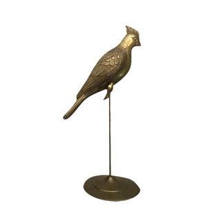 Brass Cockatoo on Perch Figure