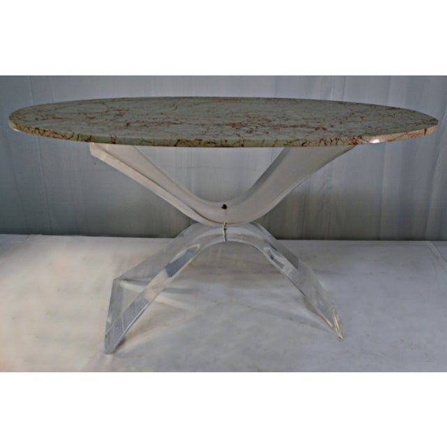 Lucite & Marble Coffee Table - Image 7 of 8
