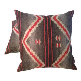 Ralph Lauren Sacred Mountain Blanket Pillows in Churro - a Pair For Sale