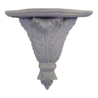 Hollywood Regency White Plaster Wall Bracket For Sale