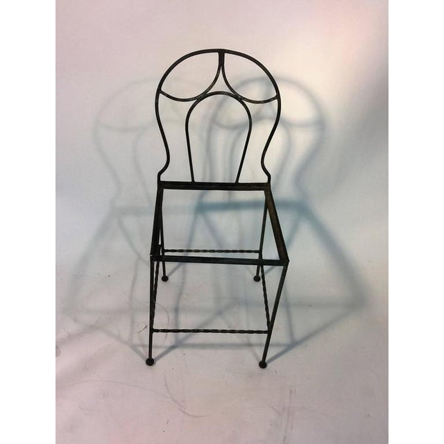 Black BEAUTIFUL ART DECO WROUGHT IRON VANITY AND CHAIR BY FERRO BRANDT For Sale - Image 8 of 11