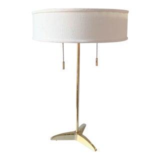 Mid Century Stiffel Tripod Brass Lamp, Signed For Sale