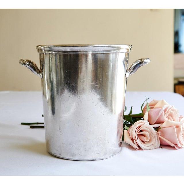 Metal Vintage Ambassador Hotel, Los Angeles Silver Plate Champagne Bucket For Sale - Image 7 of 9