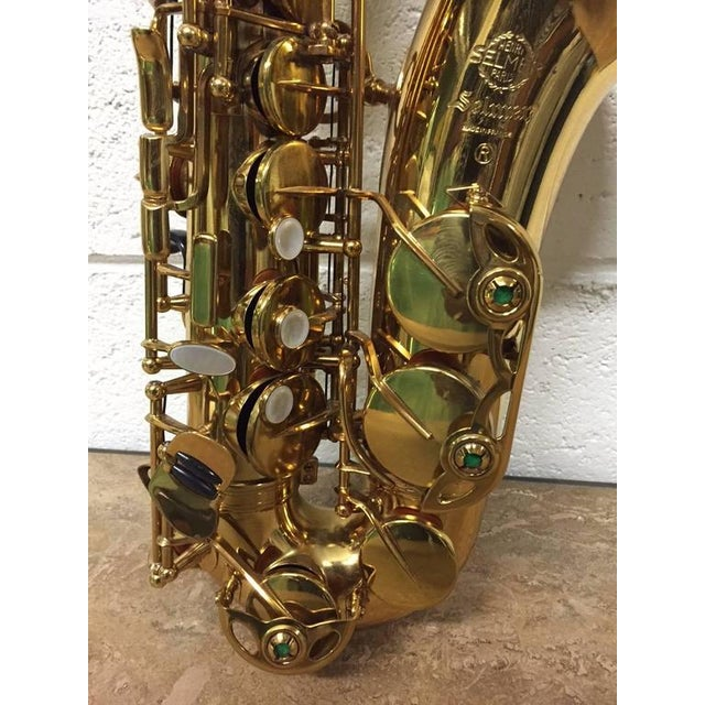 1950s French Alto Saxophone by Henri Selmer For Sale - Image 5 of 6